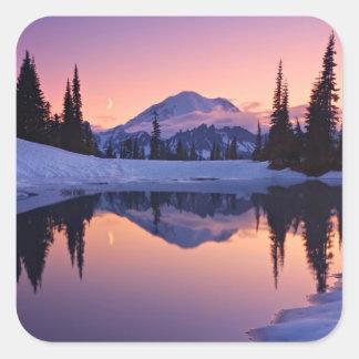 Twilight, Tarn and Crescent Moon Square Sticker