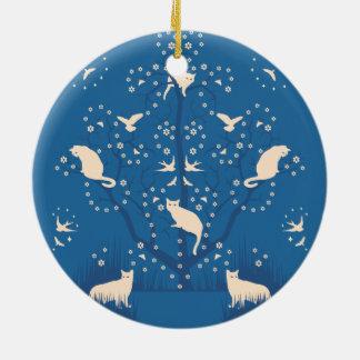 Twilight Tomcats Circle Ornament