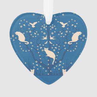 Twilight Tomcats Heart Ornament