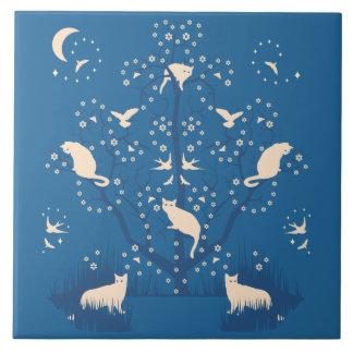 Twilight Tomcats Large Ceramic Tile