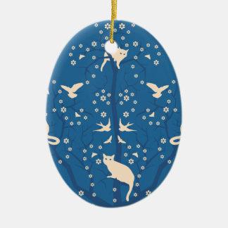 Twilight Tomcats Oval Ornament