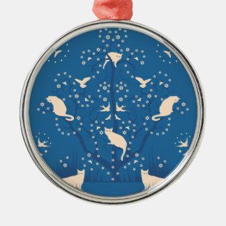 Twilight Tomcats Premium Round Ornament