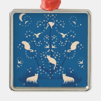 Twilight Tomcats Premium Square Ornament