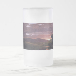 Twilight 'twixt day and night by Frederick Church Frosted Glass Beer Mug