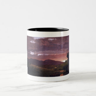 Twilight 'twixt day and night by Frederick Church Two-Tone Coffee Mug