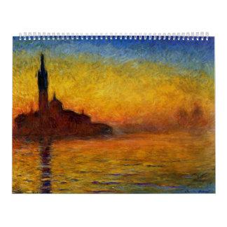Twilight, Venice by Claude Monet Wall Calendar