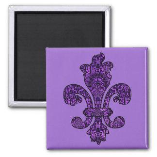Twilight Violet Goth 2 Inch Square Magnet