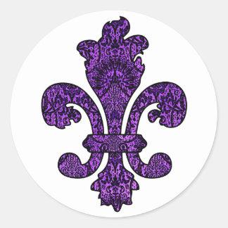 Twilight Violet Goth Classic Round Sticker