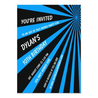 Twilight Zone Blue Black Birthday Party Invitation
