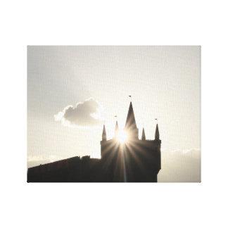 Twilit Castle Canvas Print