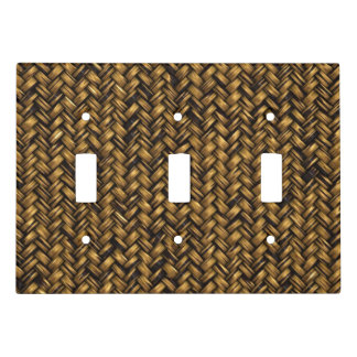 Twill Natural Fiber Pattern Light Switch Cover