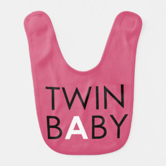 Twin A Bib - Girl - Pink