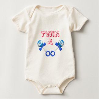 Twin A Boy/Boy Rattles Baby Bodysuit