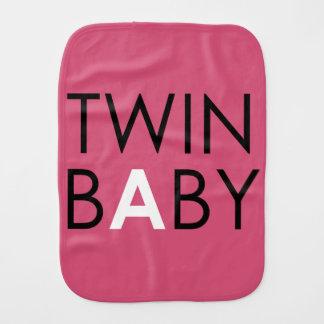 Twin A Burpcloth - Girl - Pink Baby Burp Cloth