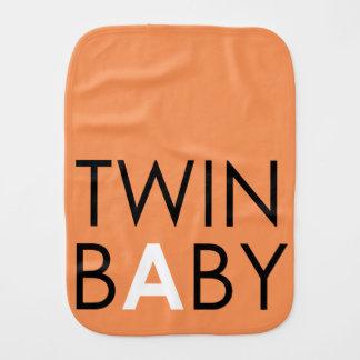Twin A Burpcloth - Unisex - Pumpkin Burp Cloth