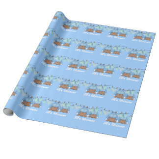 TWIN AFRICAN AMERICAN BOYS WRAPPING PAPERS Shower Gift Wrap