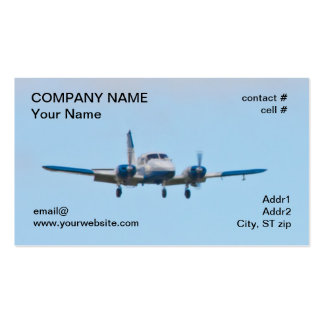 Twin airplane on landing approach Double-Sided standard business cards (Pack of 100)