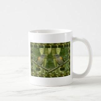 Twin American Wild Birds - Kids Fancy Fantasy Gift Classic White Coffee Mug
