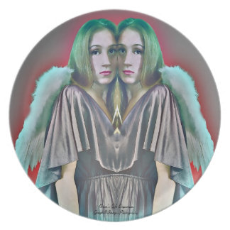 Twin Angels Dinner Plate
