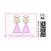twin angels postage. $19.95. Designed by angeltwinsmom