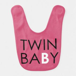 Twin B Bib - Girl - Pink