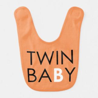 Twin B Bib - Unisex - Pumpkin