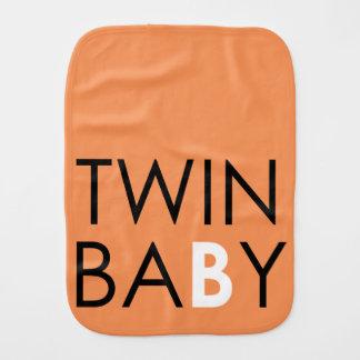 Twin B Burpcloth - Unisex - Pumpkin Baby Burp Cloth