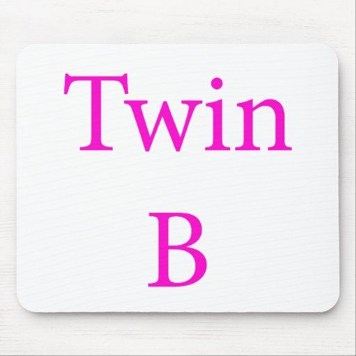 Twin B Pink Mouse Pads