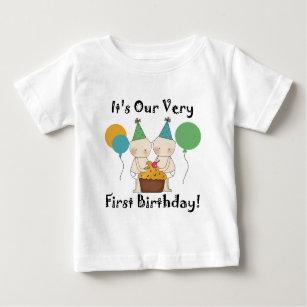 Twins First Birthday T-Shirts - Twins First Birthday T ...