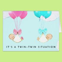 Twin Babies Card