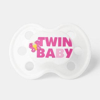 Twin Baby B Girl Pacifier