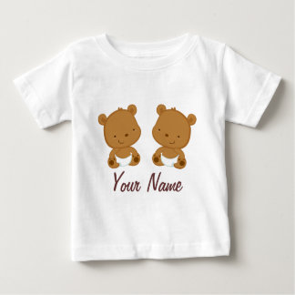 Twin Baby Bear Personalized Gift Baby T-Shirt