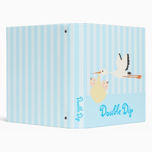 Twin Baby (Blue) Vinyl Binders