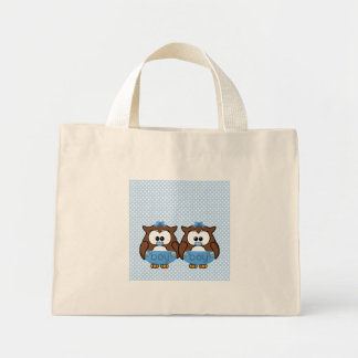 twin baby boy owl bag