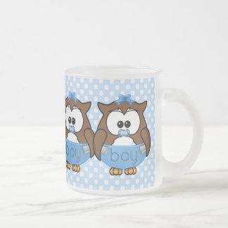twin baby boy owl coffee mugs