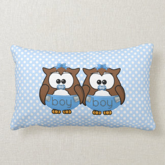 twin baby boy owl pillows