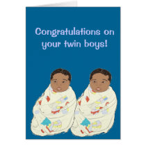Twin baby boys card