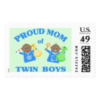 Twin Baby Boys Postage Stamp Ethnic
