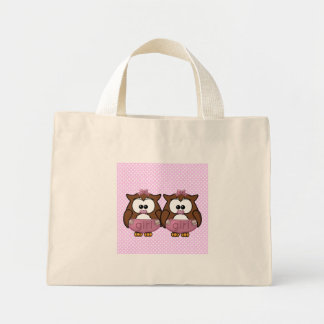 twin baby girl owl canvas bag
