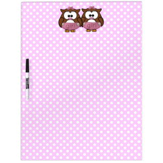 twin baby girl owl dry erase whiteboards