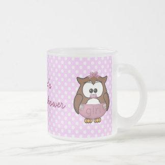 twin baby girl owl mugs