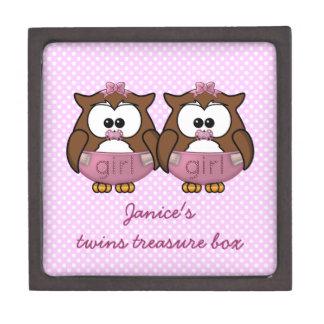 twin baby girl owl premium gift boxes