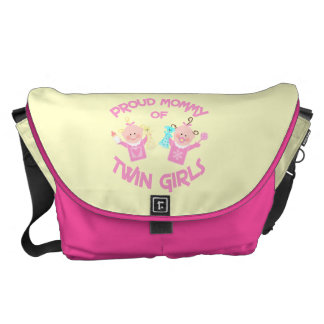 Twin Baby Girl's Mom Diaper Messenger Bag