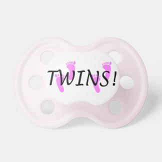 Twin Baby Girls Pacifier