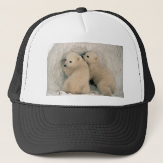 TWIN BABY POLAR BEARS TRUCKER HAT