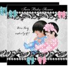 Cute Blue Zebra Boy Baby Shower Invitations   Zazzle.com