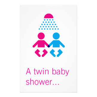 Twin baby shower flyer