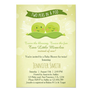 Twin Baby Shower Invitations Announcements Zazzle