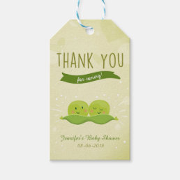 Twin Baby Shower Two Peas In A Pod gift tag label