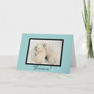 Twin Bears Congratulations Card 2 - Customizable card